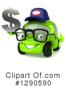 Green Car Clipart #1290590 by Julos