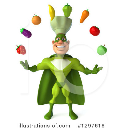 Royalty-Free (RF) Green Chef Clipart Illustration by Julos - Stock Sample #1297616