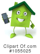 Green Clay Home Character Clipart #1055025 by Julos
