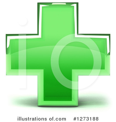 Royalty-Free (RF) Green Cross Clipart Illustration by Julos - Stock Sample #1273188