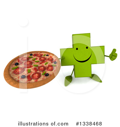 Royalty-Free (RF) Green Cross Clipart Illustration by Julos - Stock Sample #1338468