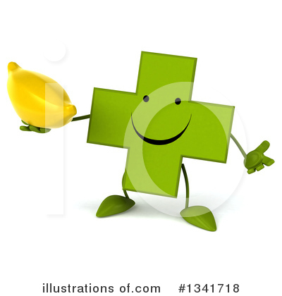 Royalty-Free (RF) Green Cross Clipart Illustration by Julos - Stock Sample #1341718