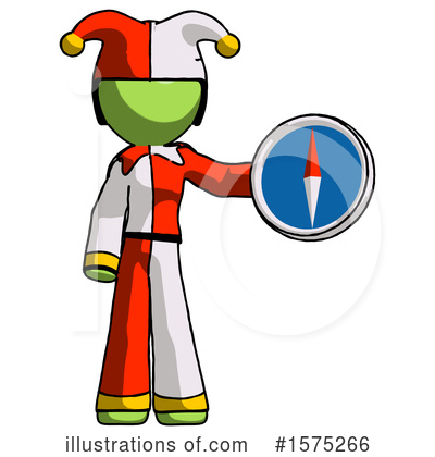 Royalty-Free (RF) Green Design Mascot Clipart Illustration by Leo Blanchette - Stock Sample #1575266
