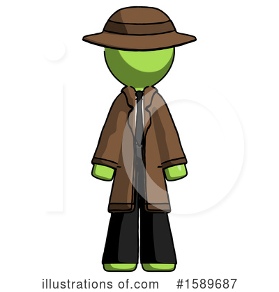 Green Design Mascot Clipart #1589687 by Leo Blanchette