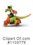 Royalty-Free (RF) Green Dragon Clipart Illustration #1103779
