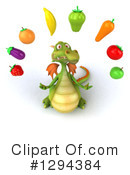 Green Dragon Clipart #1294384 by Julos