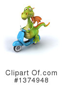 Green Dragon Clipart #1374948 by Julos