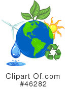 Royalty-Free (RF) green energy Clipart Illustration #46282