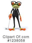Royalty-Free (RF) Green Frog Clipart Illustration #1238058