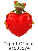Royalty-Free (RF) Green Frog Clipart Illustration #1238274