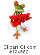 Green Frog Clipart #1245821 by Julos