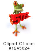 Green Frog Clipart #1245824 by Julos