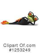 Royalty-Free (RF) Green Frog Clipart Illustration #1253249