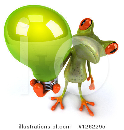 Royalty-Free (RF) Green Frog Clipart Illustration by Julos - Stock Sample #1262295