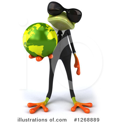 Green Business Frog Clipart #1268889 by Julos