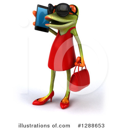 Royalty-Free (RF) Green Frog Clipart Illustration by Julos - Stock Sample #1288653