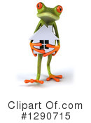 Royalty-Free (RF) Green Frog Clipart Illustration #1290715