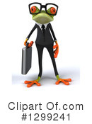 Royalty-Free (RF) Green Frog Clipart Illustration #1299241