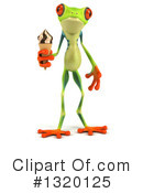 Royalty-Free (RF) Green Frog Clipart Illustration #1320125