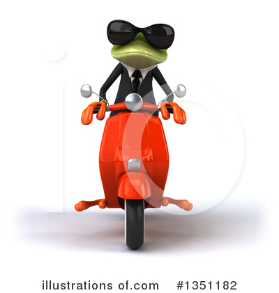 Green Business Frog Clipart #1351182 by Julos