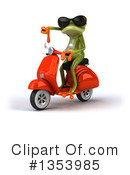 Green Frog Clipart #1353985 by Julos
