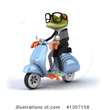 Green Business Frog Clipart #1357158 by Julos
