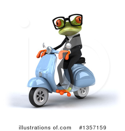 Green Business Frog Clipart #1357159 by Julos