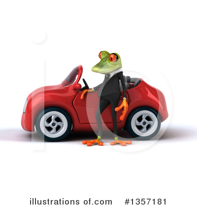 Green Business Frog Clipart #1357181 by Julos