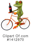 Green Frog Clipart #1412970 by Julos