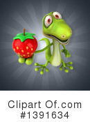 Green Gecko Clipart #1391634 by Julos
