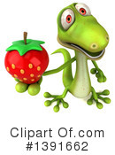 Green Gecko Clipart #1391662 by Julos