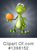 Green Gecko Clipart #1398152 by Julos