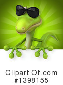 Green Gecko Clipart #1398155 by Julos