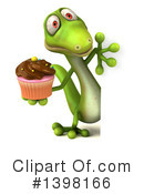 Green Gecko Clipart #1398166 by Julos