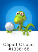 Green Gecko Clipart #1398168 by Julos