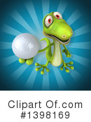 Green Gecko Clipart #1398169 by Julos