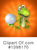 Green Gecko Clipart #1398170 by Julos