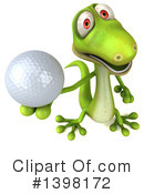 Green Gecko Clipart #1398172 by Julos