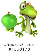 Green Gecko Clipart #1398178 by Julos