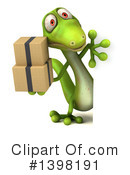 Green Gecko Clipart #1398191 by Julos