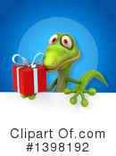 Green Gecko Clipart #1398192 by Julos