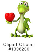Green Gecko Clipart #1398200 by Julos