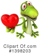 Green Gecko Clipart #1398203 by Julos