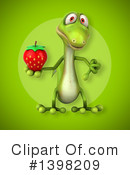 Green Gecko Clipart #1398209 by Julos