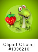 Green Gecko Clipart #1398210 by Julos