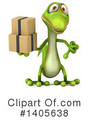 Green Gecko Clipart #1405638 by Julos