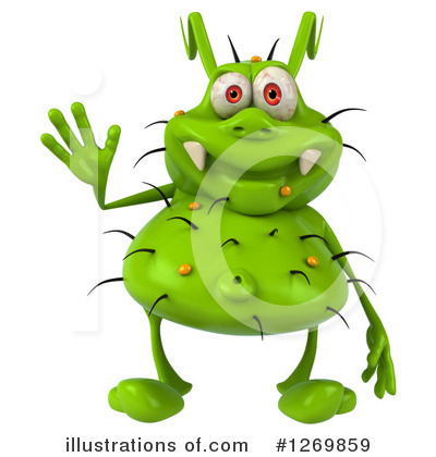 Green Germ Clipart #1269859 by Julos