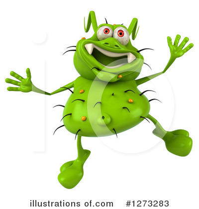 Green Virus Clipart #1273283 by Julos