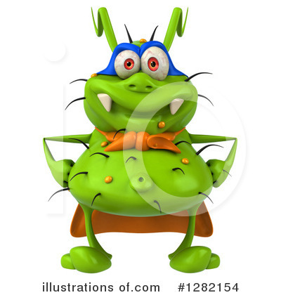 Green Virus Clipart #1282154 by Julos