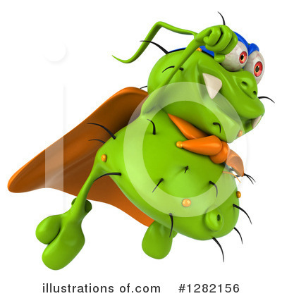 Green Virus Clipart #1282156 by Julos